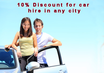 10% Discount for car hire in any city from Romania